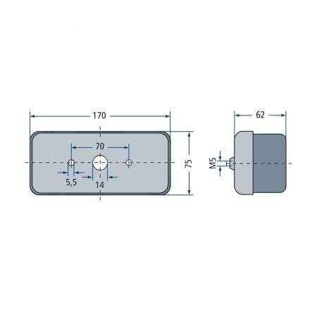 Lampă semnalizare spate - dreapta - Hella [1]