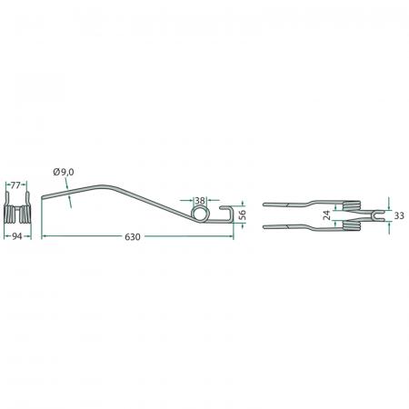 Arc greblă Deutz-Fahr Nou - întors [1]