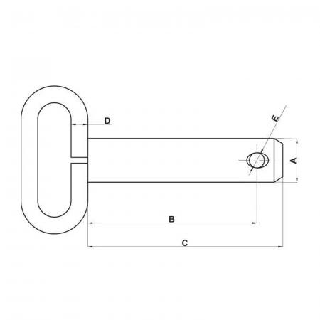 Bolț cu mâner - Ø19 [1]