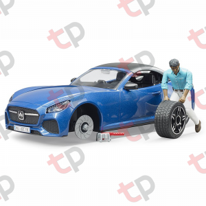 Jucărie - Mașină Roadster decapotabilă cu șofer [3]