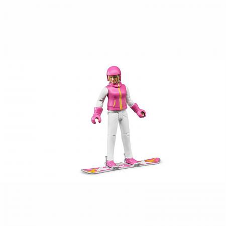 Jucărie - Figurină femeie snowboarder cu accesorii [1]