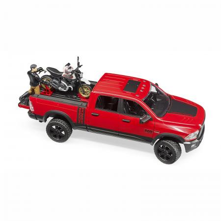Jucărie - Mașină de teren cu benă RAM 2500 Power Wagon, motocicletă Ducati și figurină [2]
