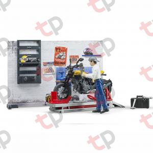 Set atelier de service cu motociclete Ducati ,figurină mecanic și accesorii 2020 [3]