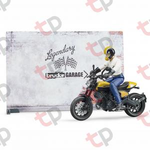 Set atelier de service cu motociclete Ducati ,figurină mecanic și accesorii 2020 [2]