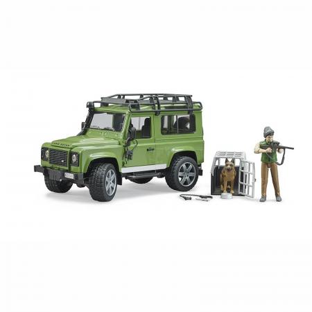 Mașină de teren Land Rover Defender cu pădurar, cușcă și câine - 2020 [1]