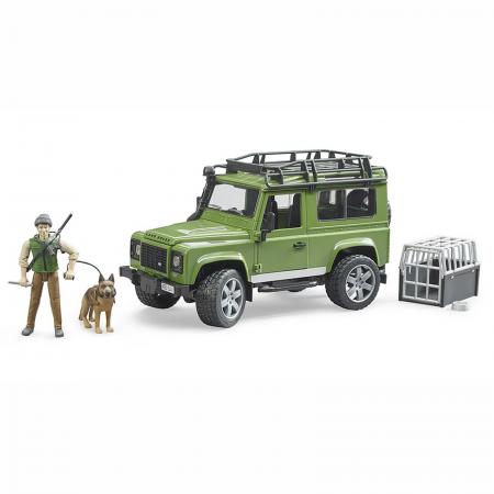 Mașină de teren Land Rover Defender cu pădurar, cușcă și câine - 2020 [0]