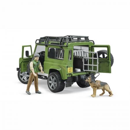 Mașină de teren Land Rover Defender cu pădurar, cușcă și câine - 2020 [3]