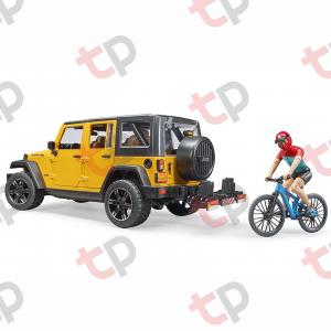 Mașină de teren Jeep Wrangler Rubicon unlimited cu o bicicletă de munte și biciclist  2020 [1]