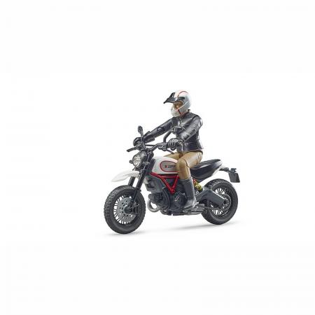 Motocicletă Ducati Desert Sled cu figurină motociclist [0]