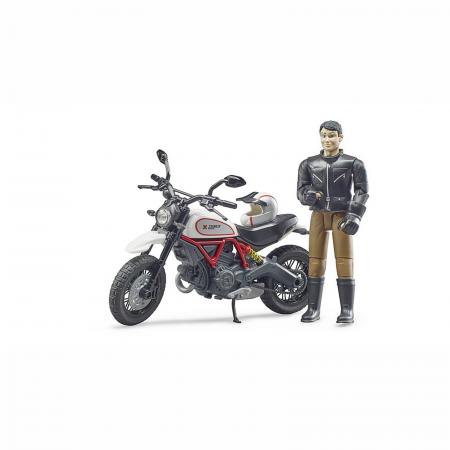 Motocicletă Ducati Desert Sled cu figurină motociclist [1]