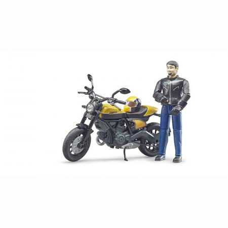 Motocicletă Ducati Scrambler cu figurină motociclist - 2020 [2]