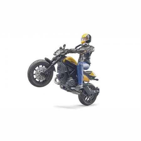 Motocicletă Ducati Scrambler cu figurină motociclist - 2020 [1]