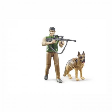 Jucărie - Pădurar cu câine și echipament [1]