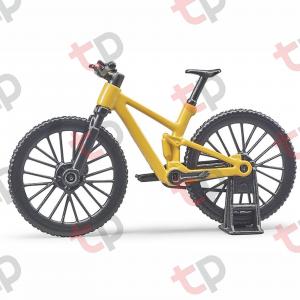 Jucărie - Bicicletă galbena de curse cu biciclistă [2]