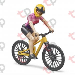 Jucărie - Bicicletă galbena de curse cu biciclistă [0]