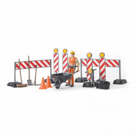Jucărie - Figurină muncitor constructor cu accesorii [0]