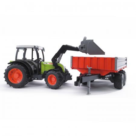 Jucărie - Tractor Claas Nectis 267F cu remorcă basculabilă și încărcător frontal [2]