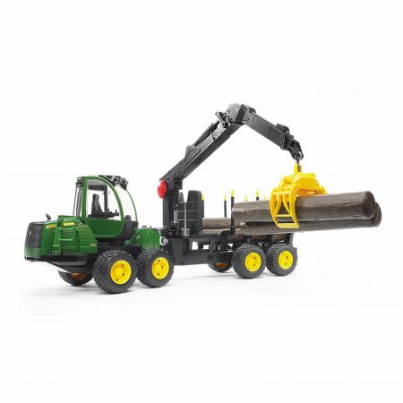 Jucărie - Tractor forestier John Deere 1210E  cu 4 bușteni și graifer [0]