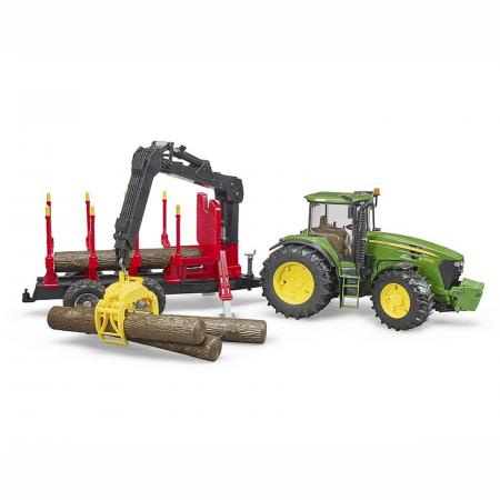 Jucărie - Tractor John Deere 7930 cu remorcă lemne și bușteni [1]