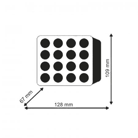 Lampă pătrată LED - 48W, 3070 lumeni, 16x3 [1]