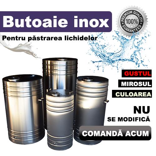 Banner Butoaie inox