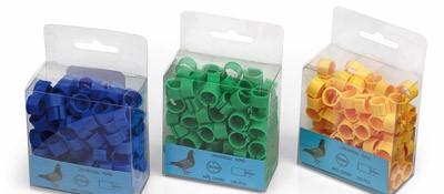 Inele de picioare pentru porumbei 8mm(verde) 1