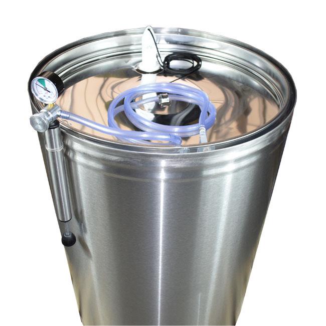 Butoi INOX 315 L cu capac flotant si canea [5]