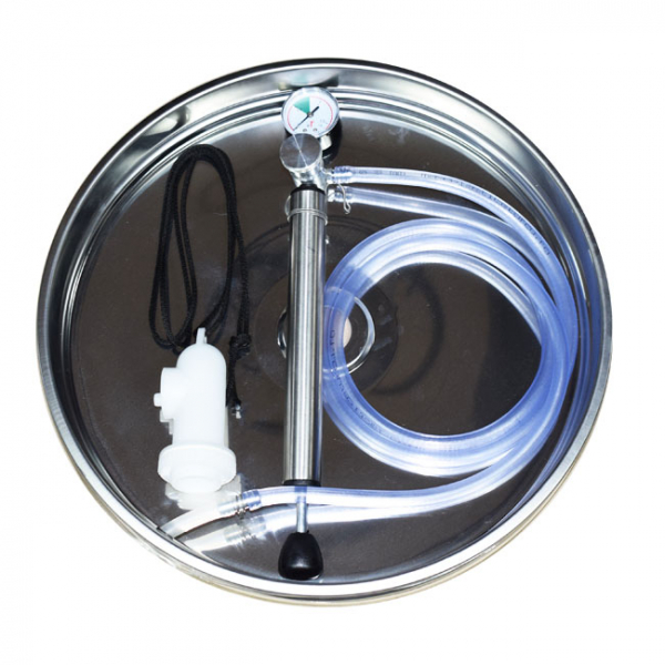 Butoi INOX 102 L cu capac flotant si canea [3]