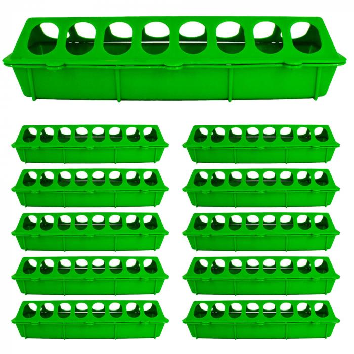 Hranitoare liniara pentru puisori 30 cm [Set 10 BUC.] [0]