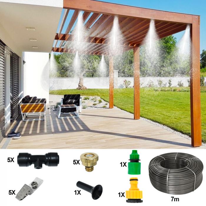 Sistem racire exterioara terase, 7m, 5 duze, 5 clipsuri [0]
