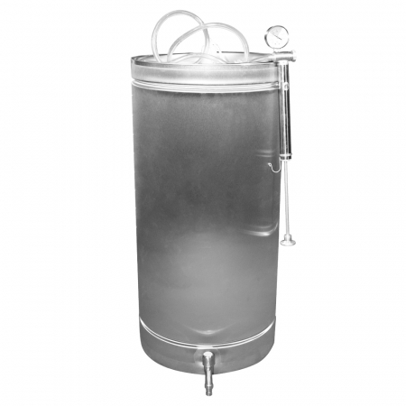 Butoi INOX 102 L cu capac flotant si canea [0]