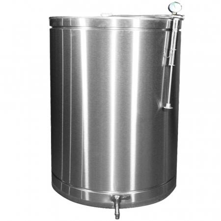 Butoi INOX 315 L cu capac flotant si canea [0]