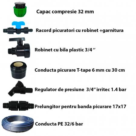 Sistem irigare prin picurare pentru gradina 450 mp [4]