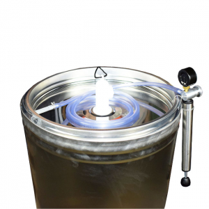 Butoi INOX 102 L cu capac flotant si canea [2]