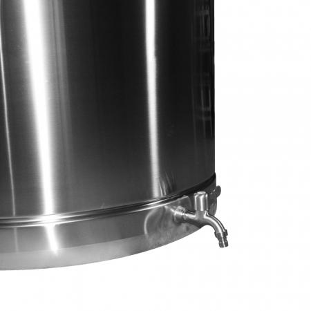 Butoi INOX 550L cu capac flotant si canea [1]