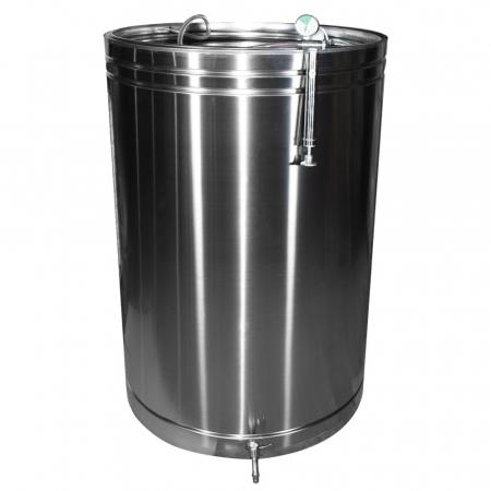 Butoi INOX 550L cu capac flotant si canea [0]