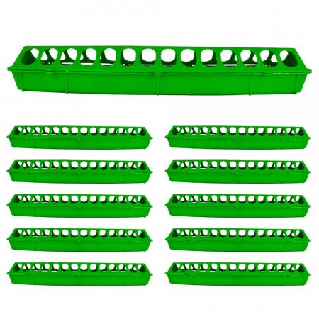 Hranitoare liniara pentru puisori 50cm [Set 10 BUC.] [0]
