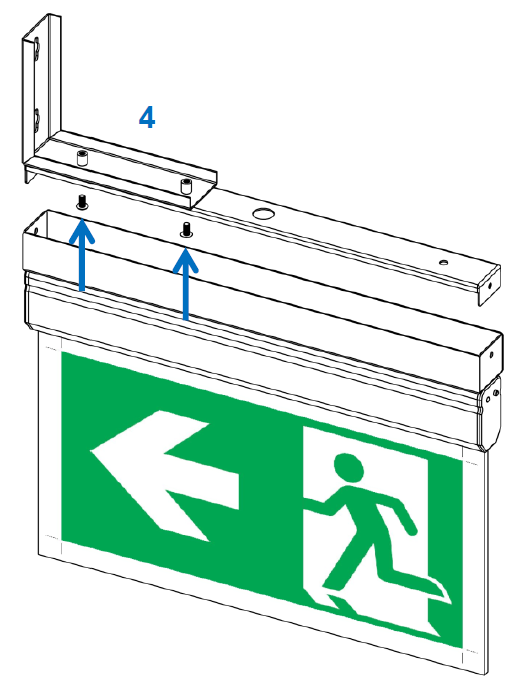 Lampi evacuare EXIT cu montaj aplicat, incastrat sau suspendat