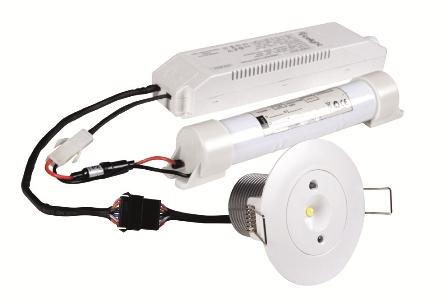 Lampa antipanica led Intelight 99616 3W  3h mentinut/nementinut test manual 4