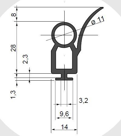 TPS-PV143601 - profil cauciuc usa garaj [0]