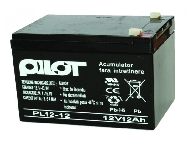 Acumulator 12V 12AH pentru centrale detectie incendiu [0]