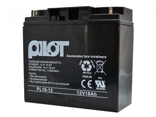 Acumulator 12V 18AH pentru centrale detectie incendiu IDSAI [0]