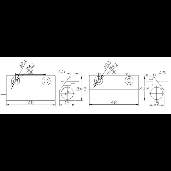 Contact magnetic aplicabil NC pentru usi de metal 5C-56 [1]