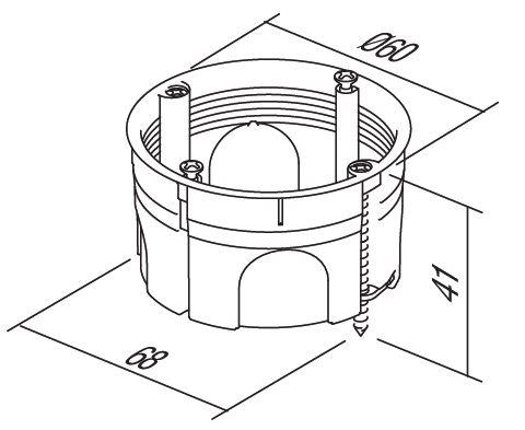Doza aparataj modular 2M incastrata in pereti din rigips HE10 [1]