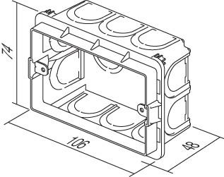 Doza aparataj modular 3M incastrata in tencuiala DM30 [1]