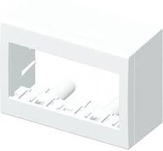 Doza aparataj modular 4 module aplicata Cubo AC41PW [0]