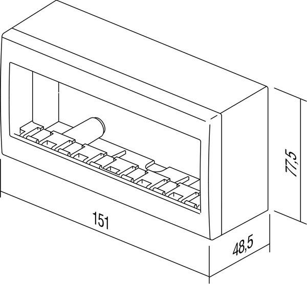 Doza aparataj modular 6 module aplicata Cubo AC61PW [2]