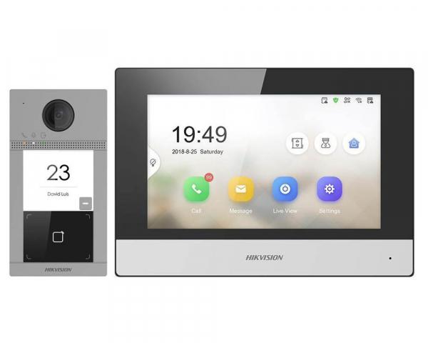 Kit videointerfon wireless Hikvision complet cu apelare pe mobil. Instalare inclusa in pretul kitului oriunde in judetul DOLJ. 0