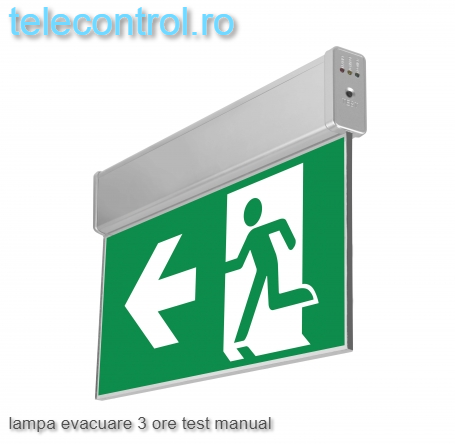 Lampa evacuare aplicata, IP20, 3h, mentinut, test manual, 3.6W, Intelight 99993 [1]