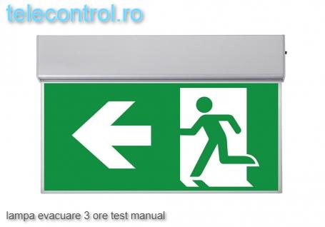 Lampa evacuare aplicata, IP20, 3h, mentinut, test manual, 3.6W, Intelight 99993 [0]